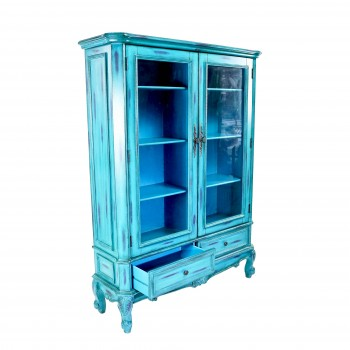 Шкаф бирюзовый для книг «Елизавета»