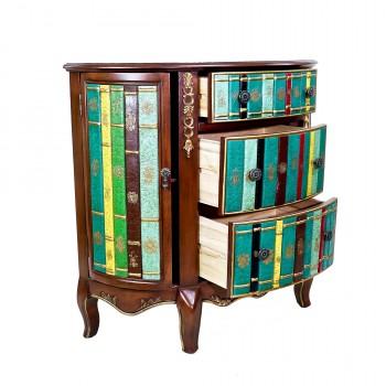 Комод полукруглый коричневый «Книги»
