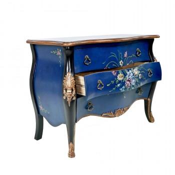 Комод синий на ножках «Версаль»
