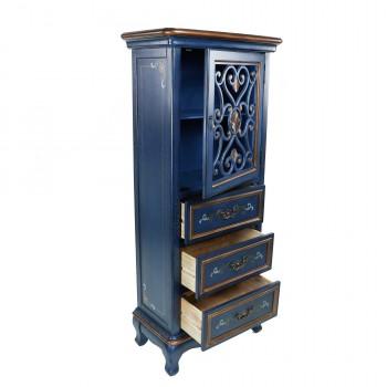 Комод высокий синий «Екатерина»