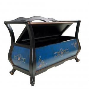 Диван - скамья с откидным сидением синий «Релакс»