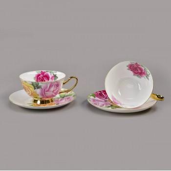 Изысканная кофейная чашка с блюдцем «Роза»