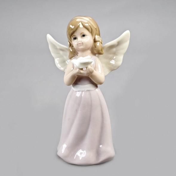 Ангелочек средний с цветком