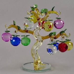 Яблоня маленькая, 12 яблочек на дереве