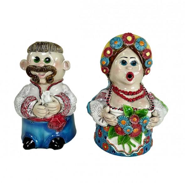 Скульптуры «Казак и казачка»