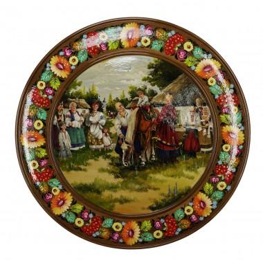 Панно круглое «Лошадь»