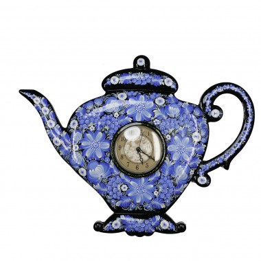 Часы «Чайник» голубые