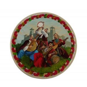 Панно круглое «Казаки»