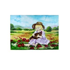 Картина «Девочка с курочкой»